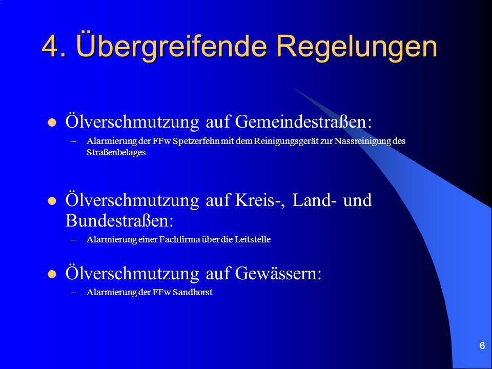 4. Übergreifende Regelungen