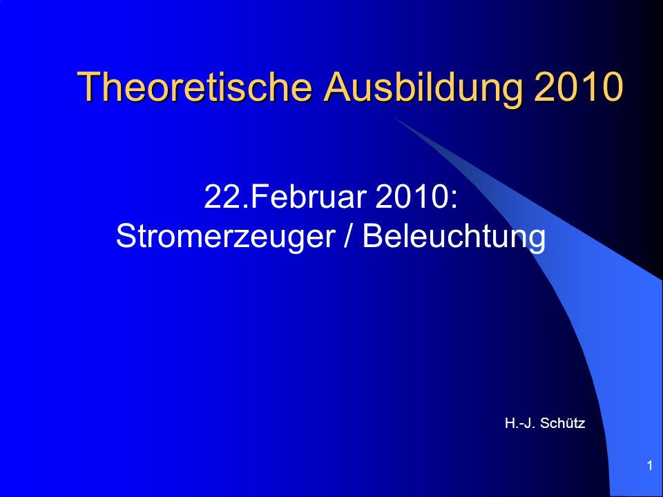 Theoretische Ausbildung 2010
