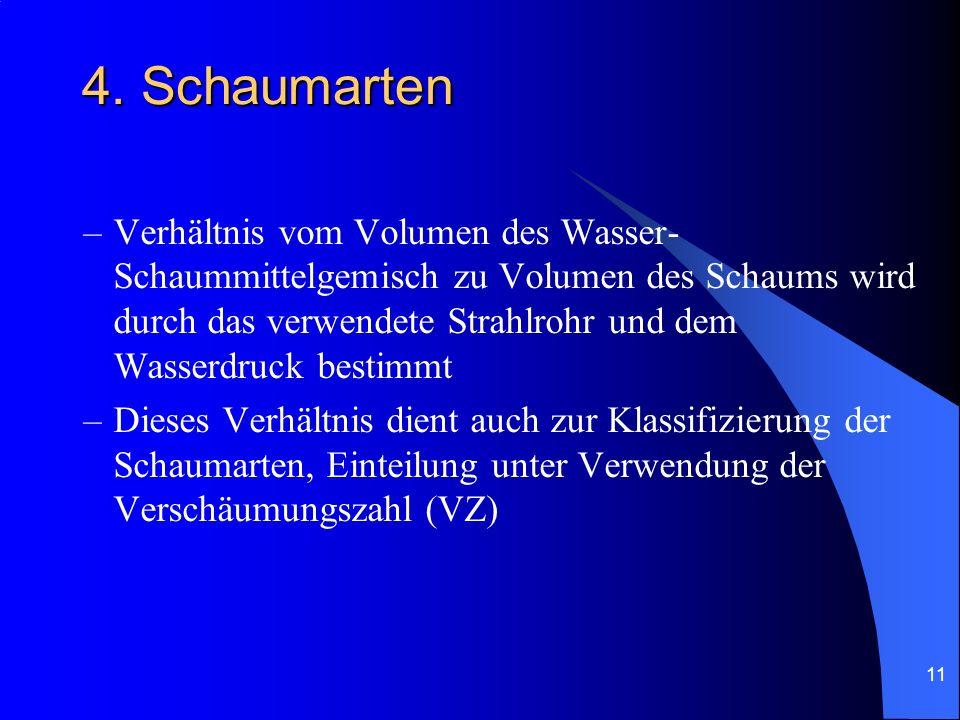 4. Schaumarten