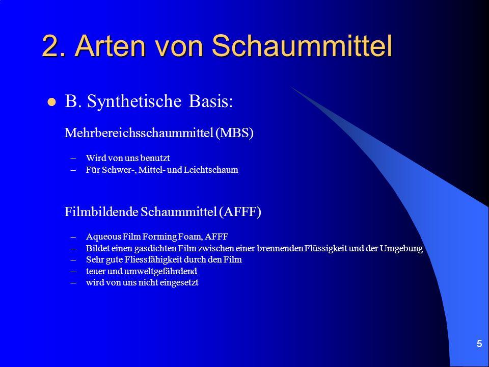 2. Arten von Schaummittel