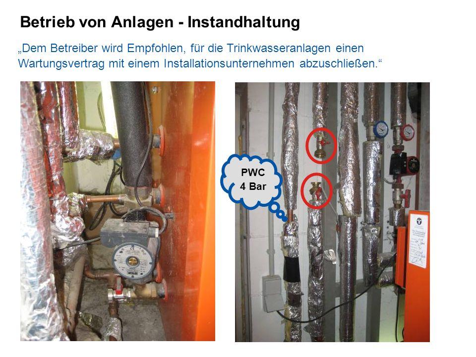 Betrieb von Anlagen - Instandhaltung
