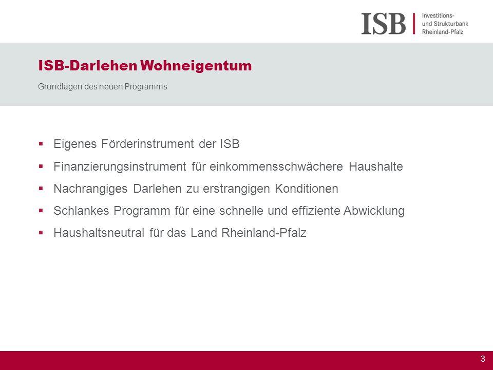 ISB-Darlehen Wohneigentum Grundlagen des neuen Programms