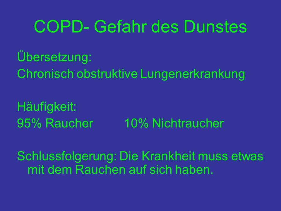 COPD- Gefahr des Dunstes