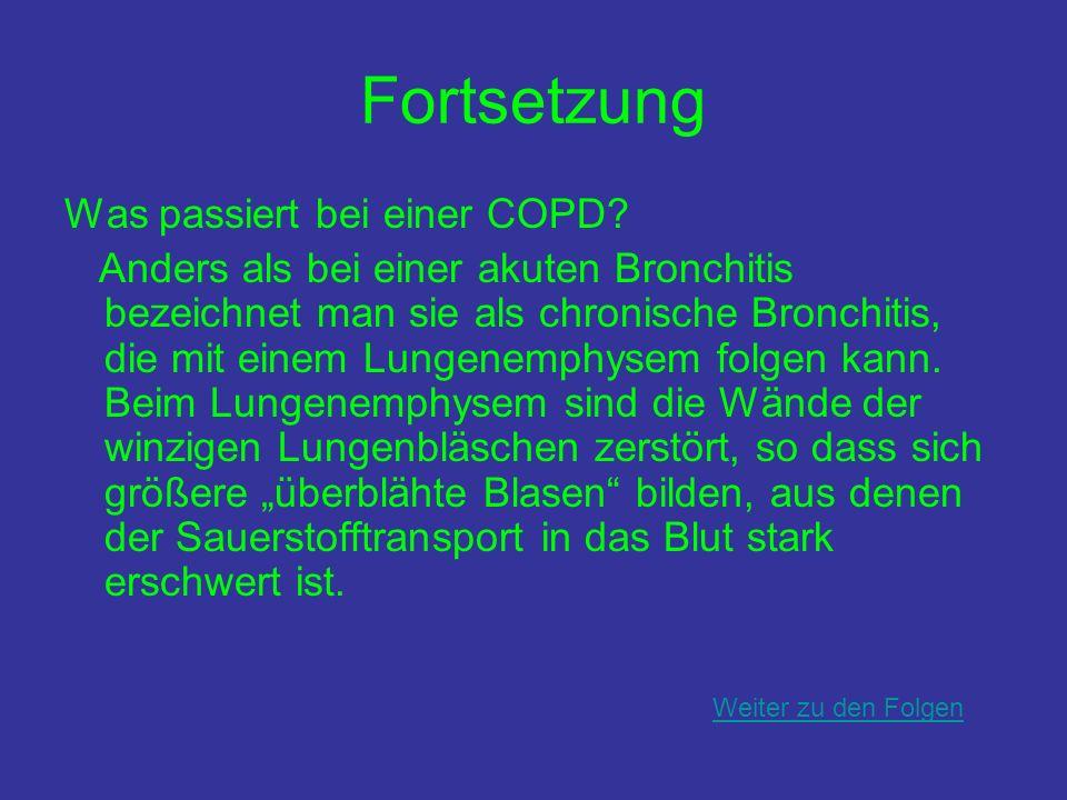 Fortsetzung Was passiert bei einer COPD