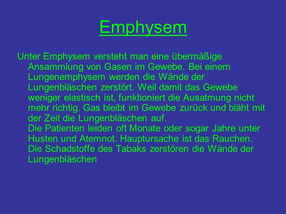 Emphysem