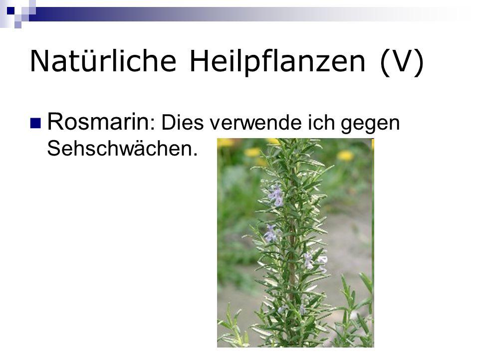 Natürliche Heilpflanzen (V)