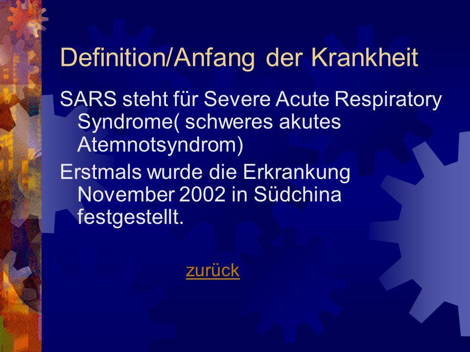 Definition/Anfang der Krankheit