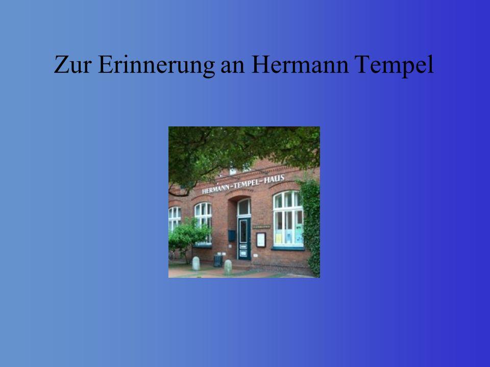 Zur Erinnerung an Hermann Tempel
