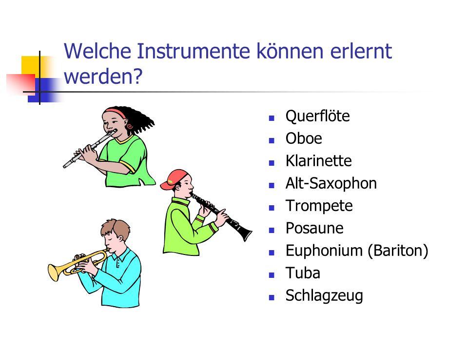 Welche Instrumente können erlernt werden