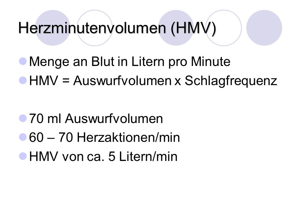 Herzminutenvolumen (HMV)