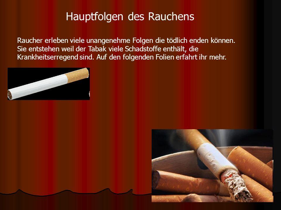Hauptfolgen des Rauchens