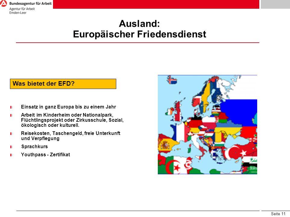 Ausland: Europäischer Friedensdienst