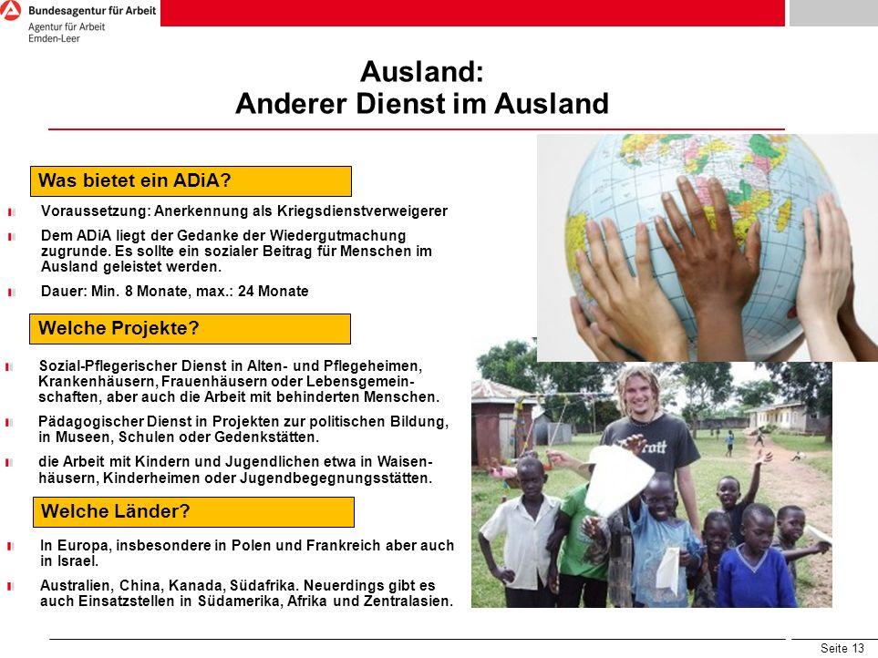Ausland: Anderer Dienst im Ausland
