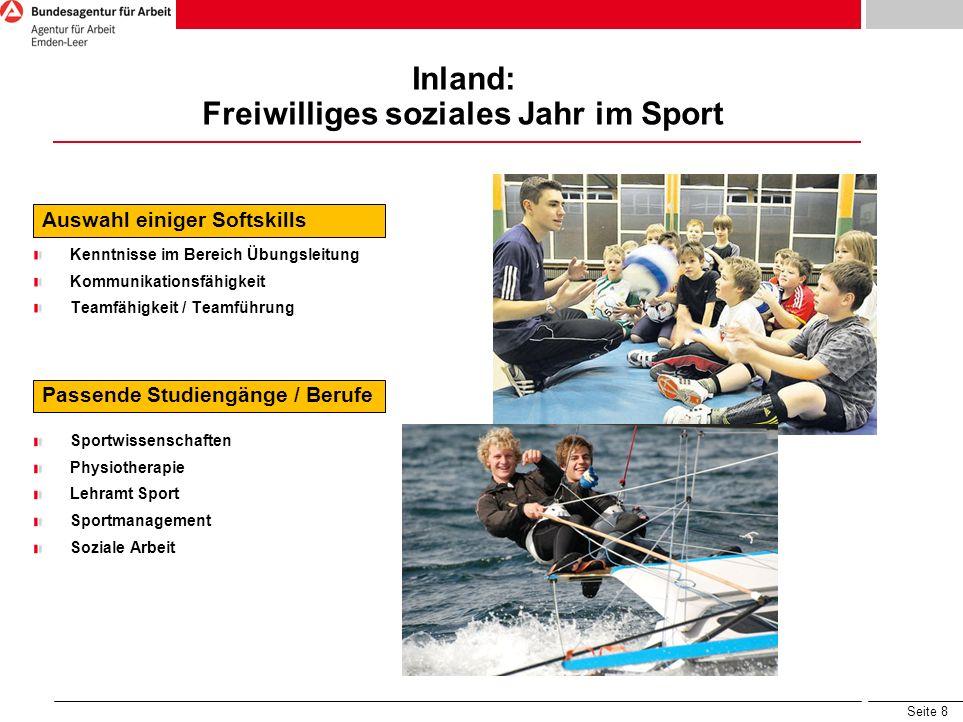 Inland: Freiwilliges soziales Jahr im Sport