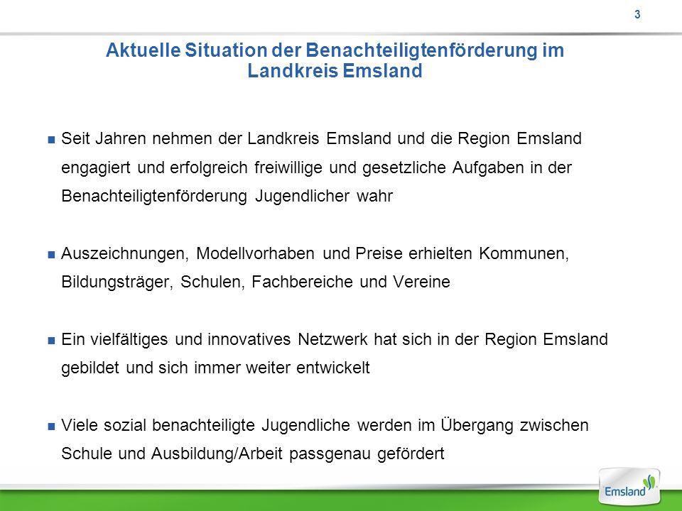 Aktuelle Situation der Benachteiligtenförderung im Landkreis Emsland