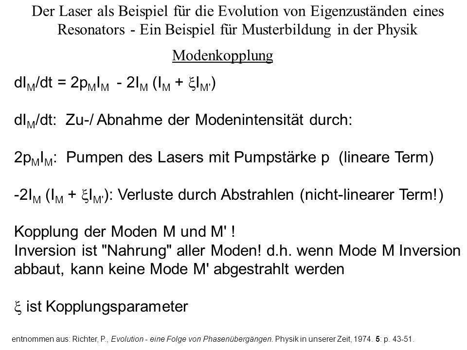 dIM/dt = 2pMIM - 2IM (IM + IM )