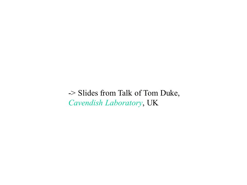 -> Slides from Talk of Tom Duke,