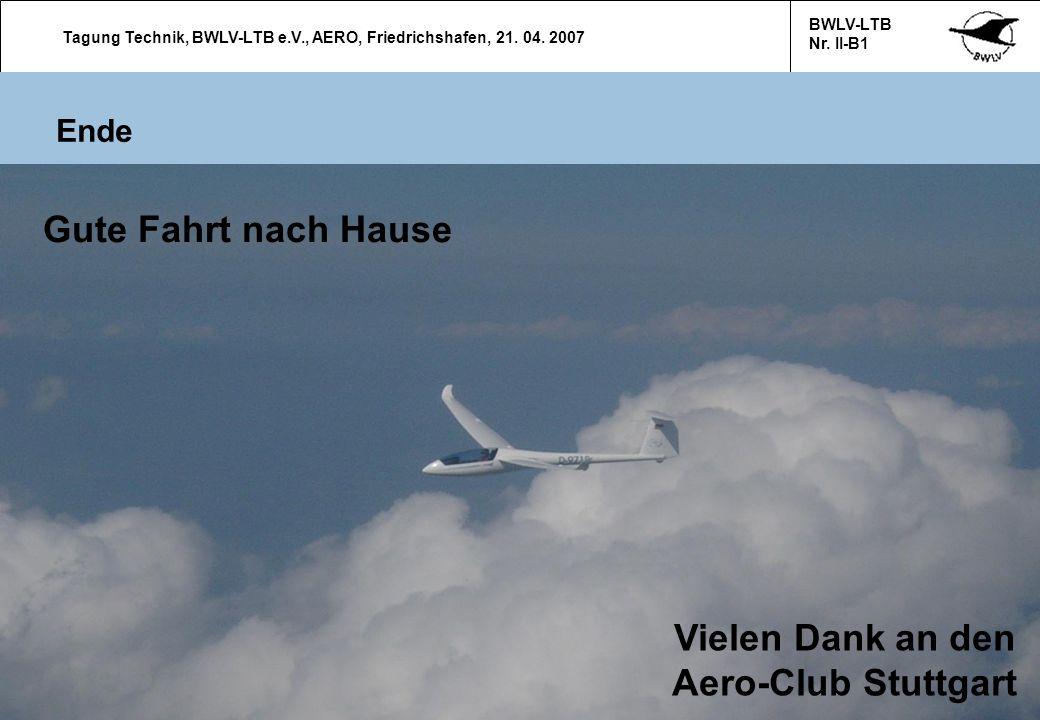 Vielen Dank an den Aero-Club Stuttgart