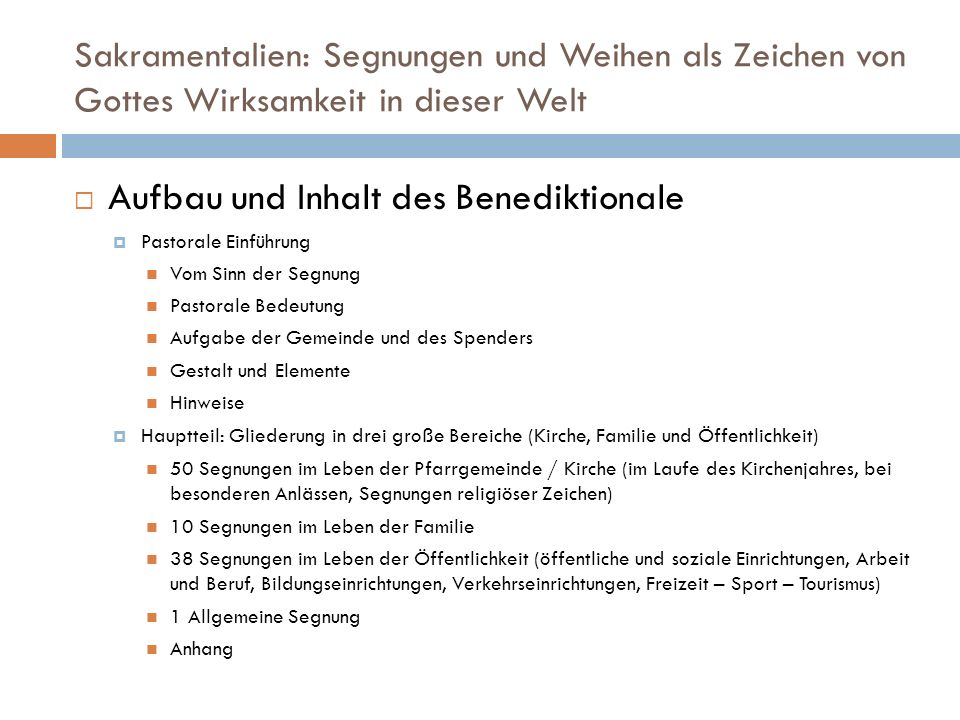 Aufbau und Inhalt des Benediktionale
