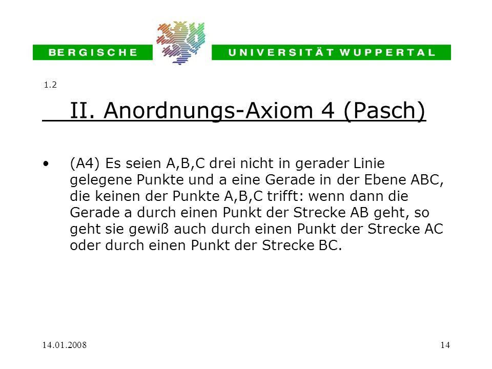 II. Anordnungs-Axiom 4 (Pasch)