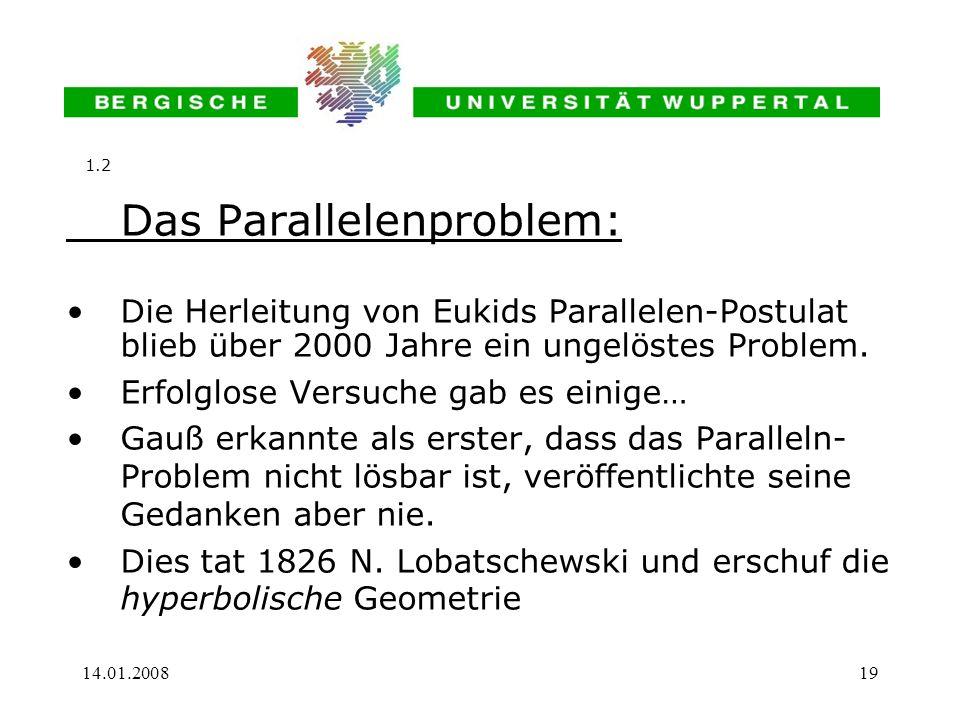Das Parallelenproblem: