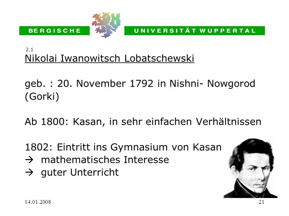 Nikolai Iwanowitsch Lobatschewski