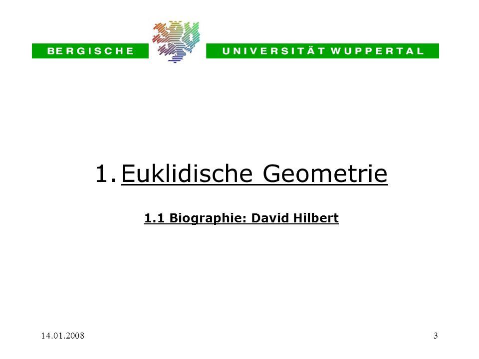 1.1 Biographie: David Hilbert