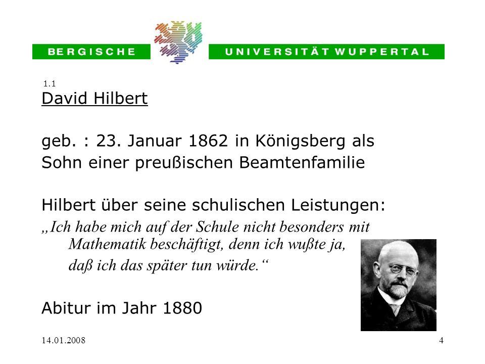 geb. : 23. Januar 1862 in Königsberg als