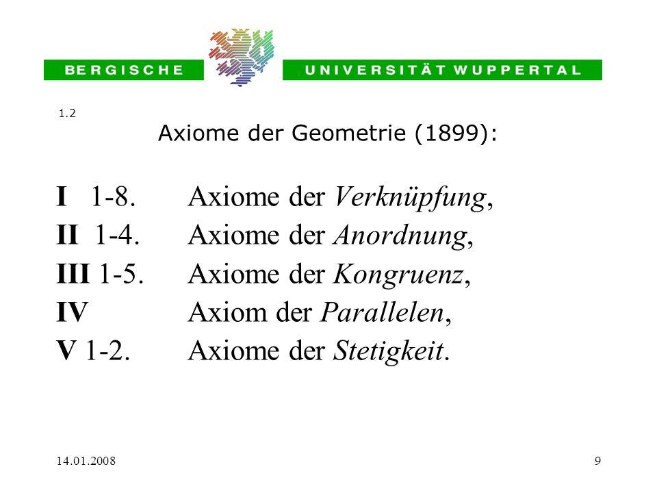 Axiome der Geometrie (1899):