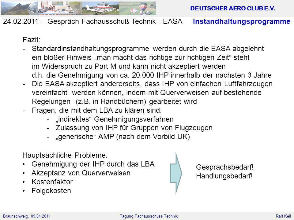 24.02.2011 – Gespräch Fachausschuß Technik - EASA