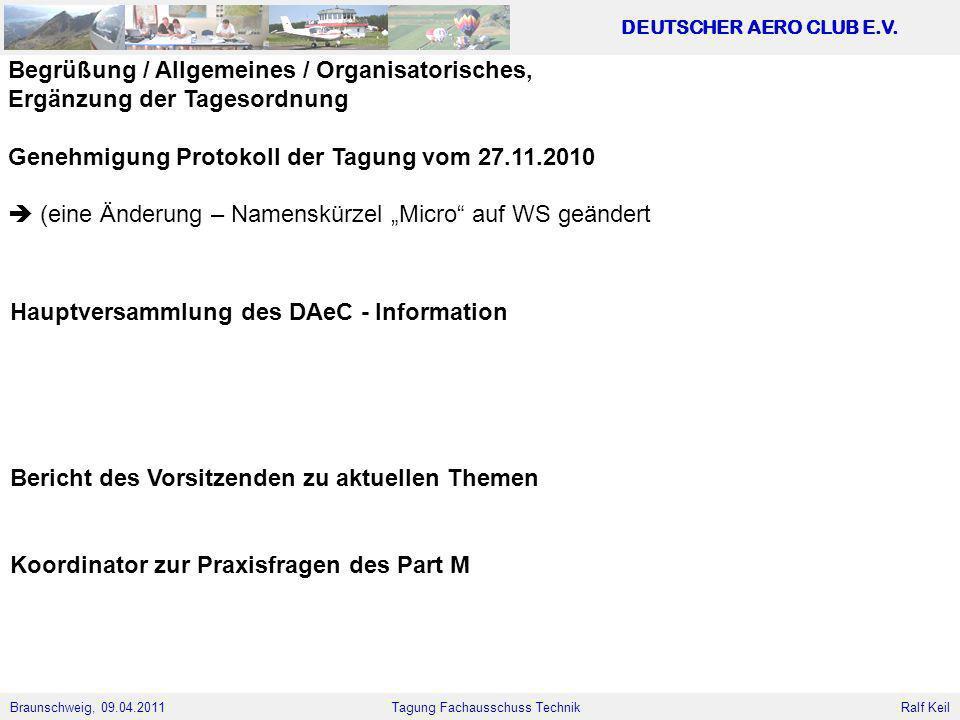Begrüßung / Allgemeines / Organisatorisches,