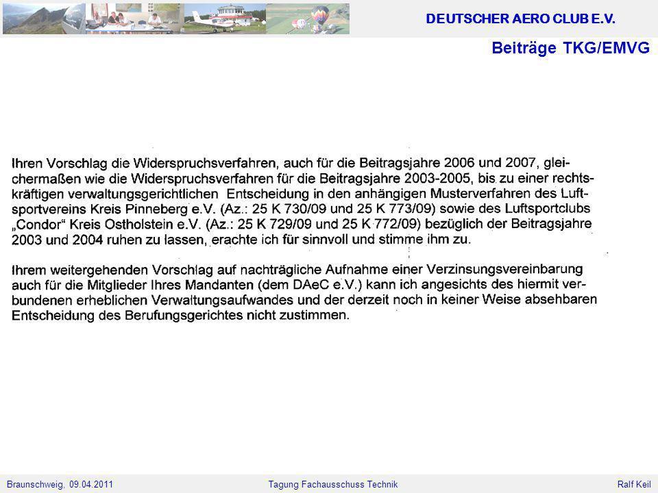 Beiträge TKG/EMVG
