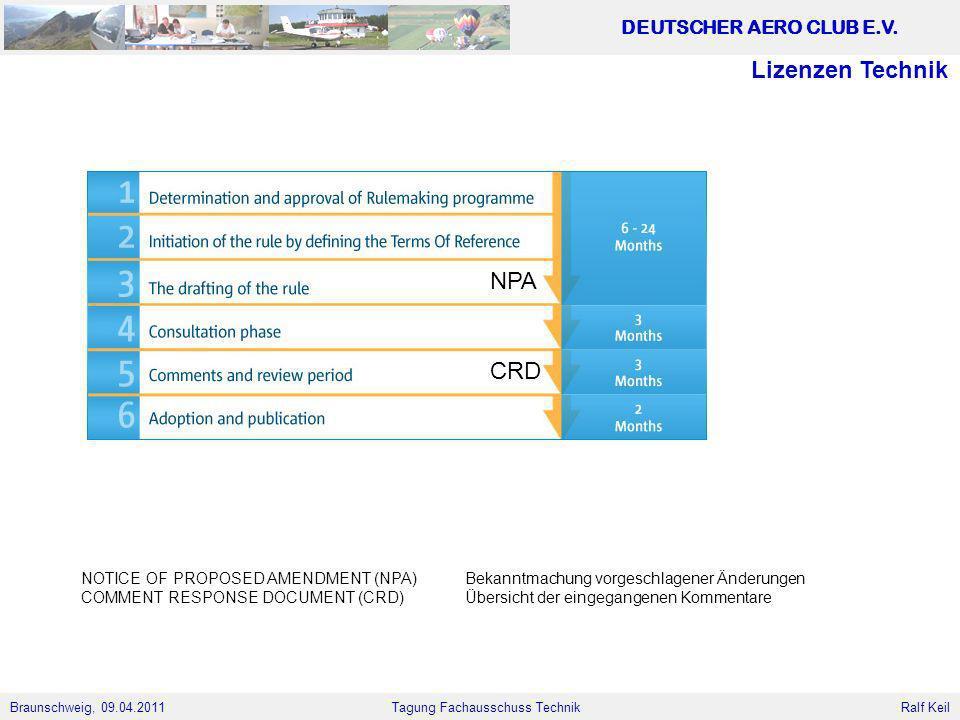 Lizenzen Technik NPA CRD