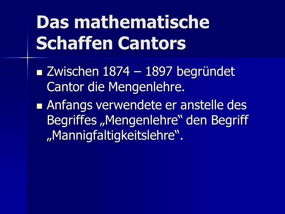 Das mathematische Schaffen Cantors