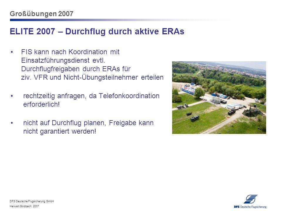 ELITE 2007 – Durchflug durch aktive ERAs
