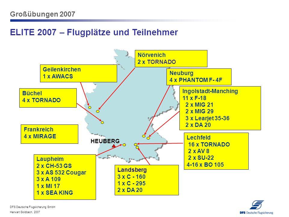 ELITE 2007 – Flugplätze und Teilnehmer