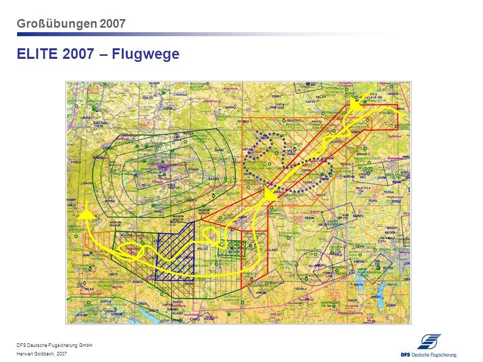 Großübungen 2007 ELITE 2007 – Flugwege