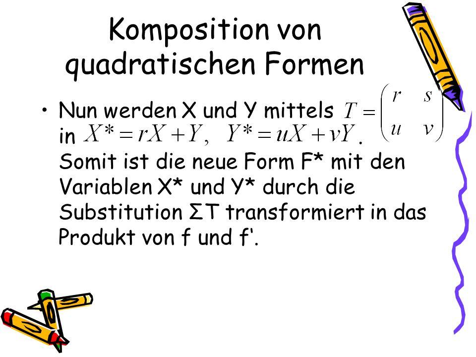 Komposition von quadratischen Formen