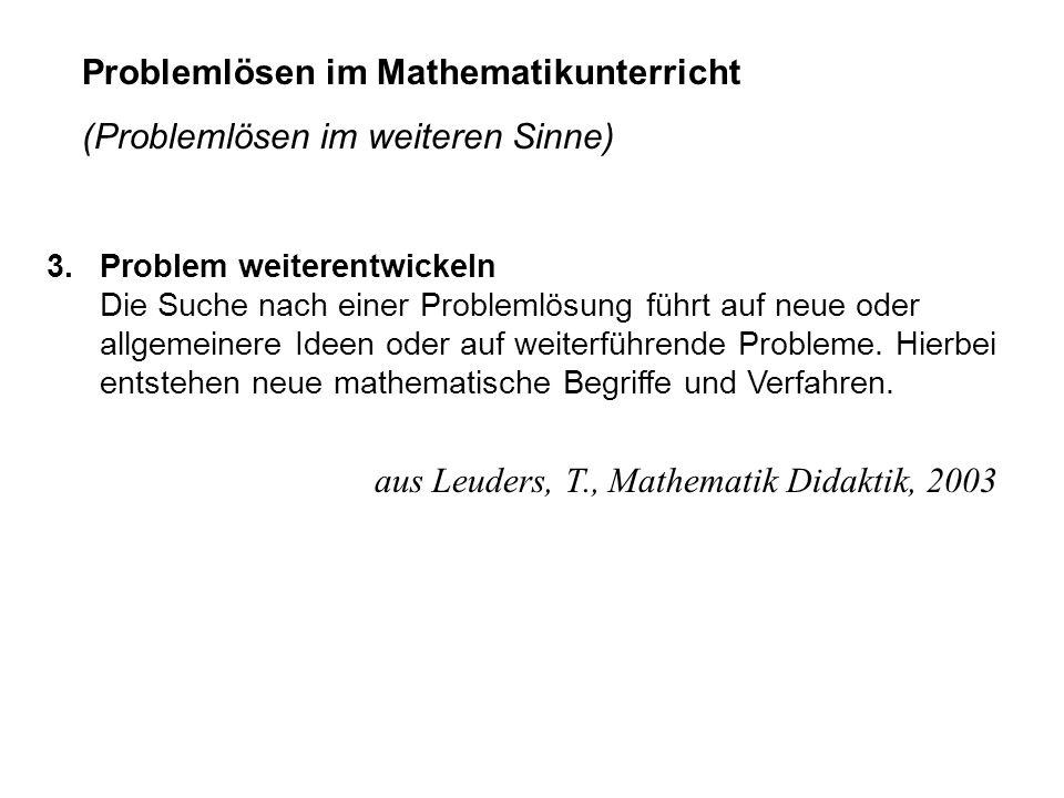 Problemlösen im Mathematikunterricht (Problemlösen im weiteren Sinne)