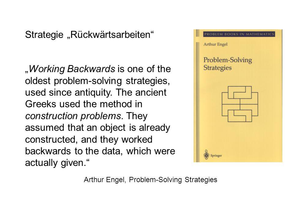 """Strategie """"Rückwärtsarbeiten"""