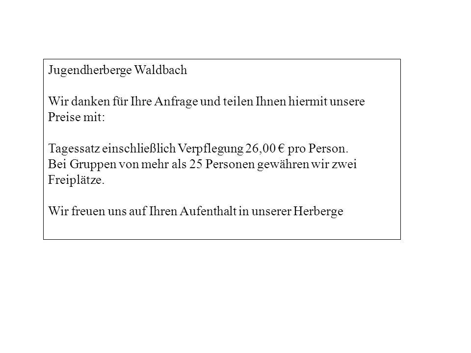 Jugendherberge Waldbach