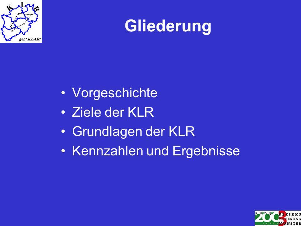 Gliederung Vorgeschichte Ziele der KLR Grundlagen der KLR