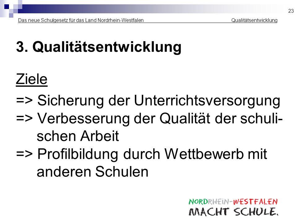 3. Qualitätsentwicklung Ziele