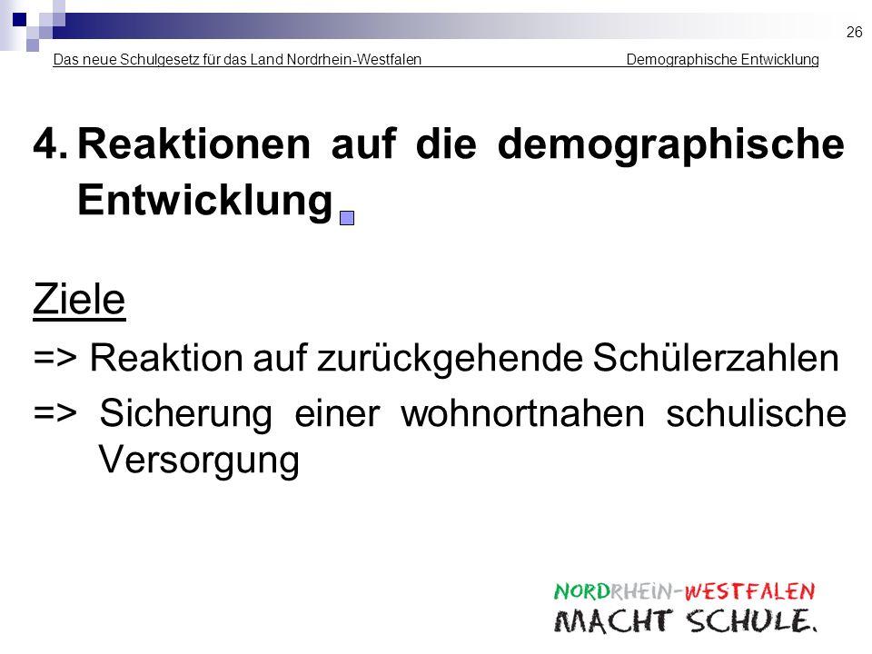 4. Reaktionen auf die demographische Entwicklung