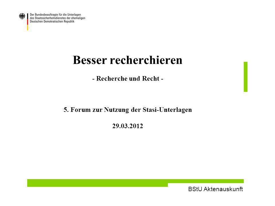 Besser recherchieren - Recherche und Recht - 5