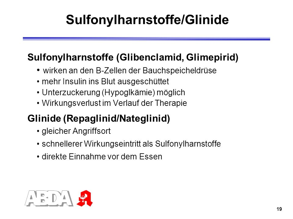 Sulfonylharnstoffe/Glinide