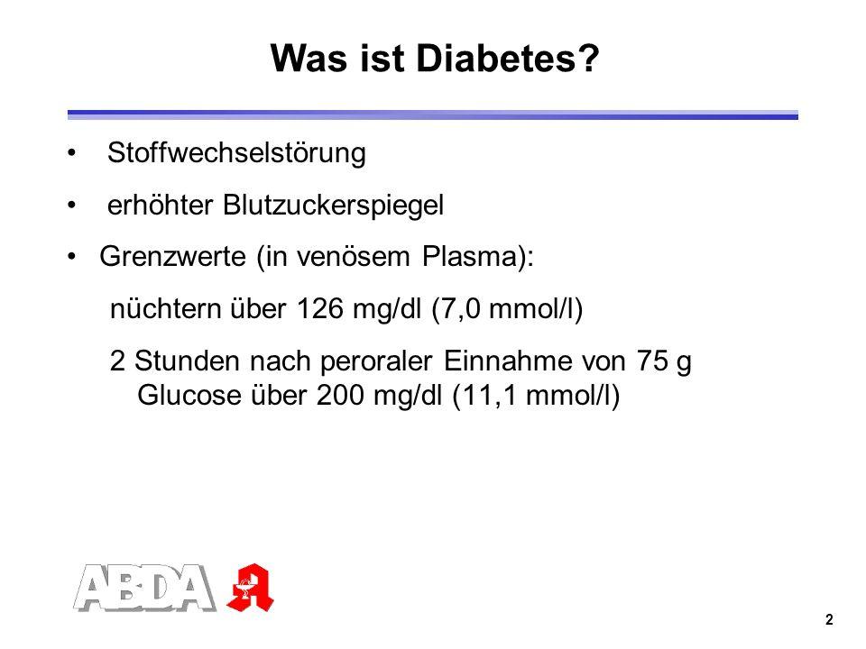 Was ist Diabetes Stoffwechselstörung erhöhter Blutzuckerspiegel