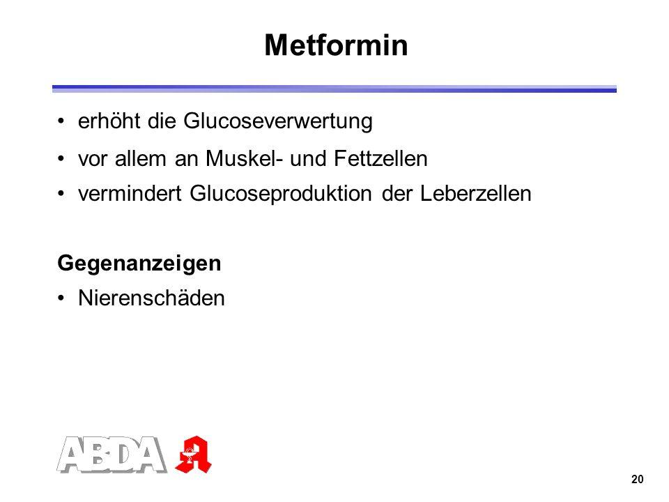 Metformin erhöht die Glucoseverwertung