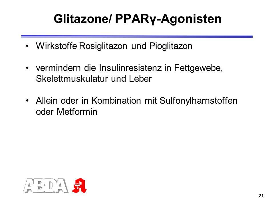 Glitazone/ PPARγ-Agonisten