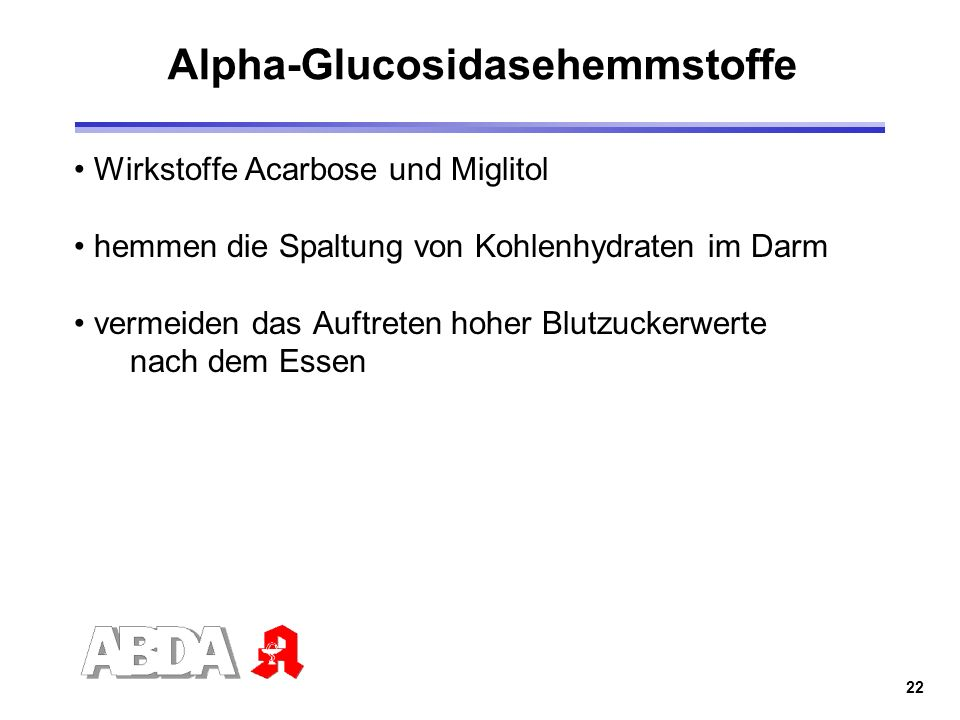 Alpha-Glucosidasehemmstoffe